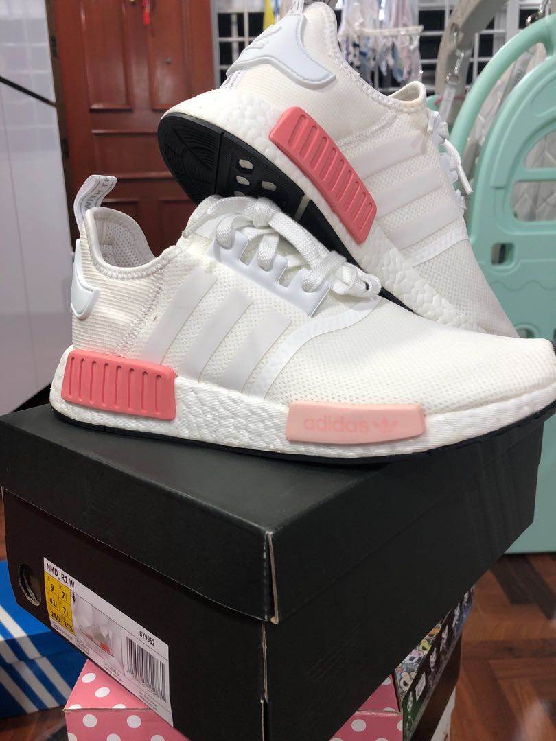 the latest f60da 92192 Adidas NMD R1 White Pink, Women's Fashion, Shoes, Sneakers ...