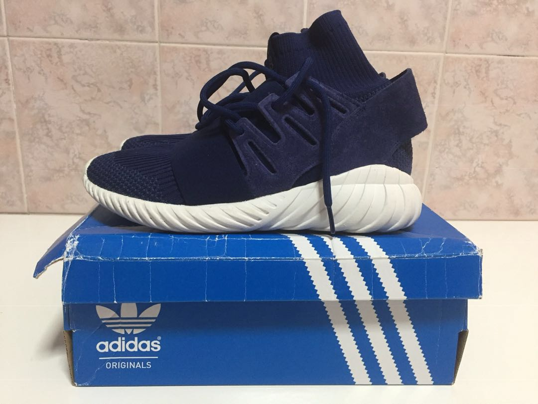 purchase cheap 68117 09630 Adidas Tubular Doom PK Navy