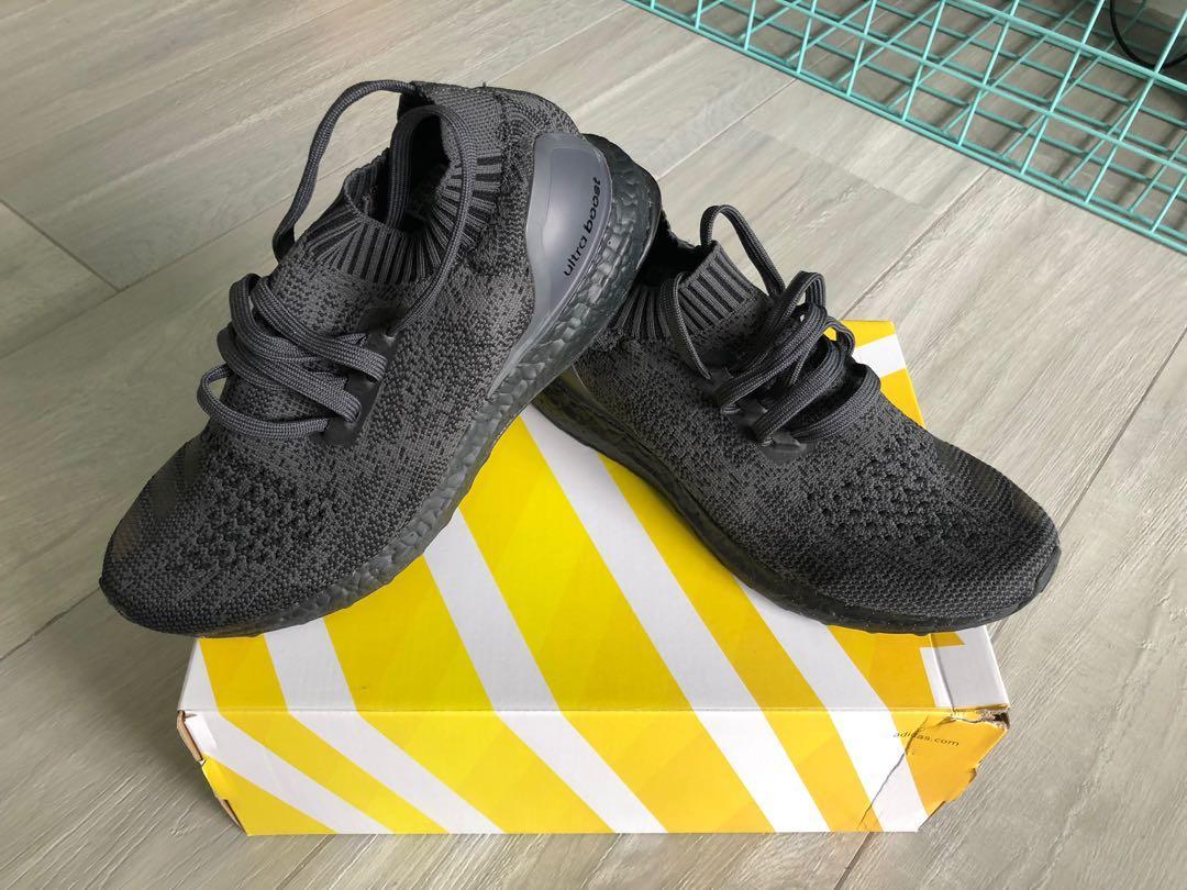bfa7ab77 Adidas Ultraboost Uncaged Triple Black OG, Men's Fashion, Footwear ...