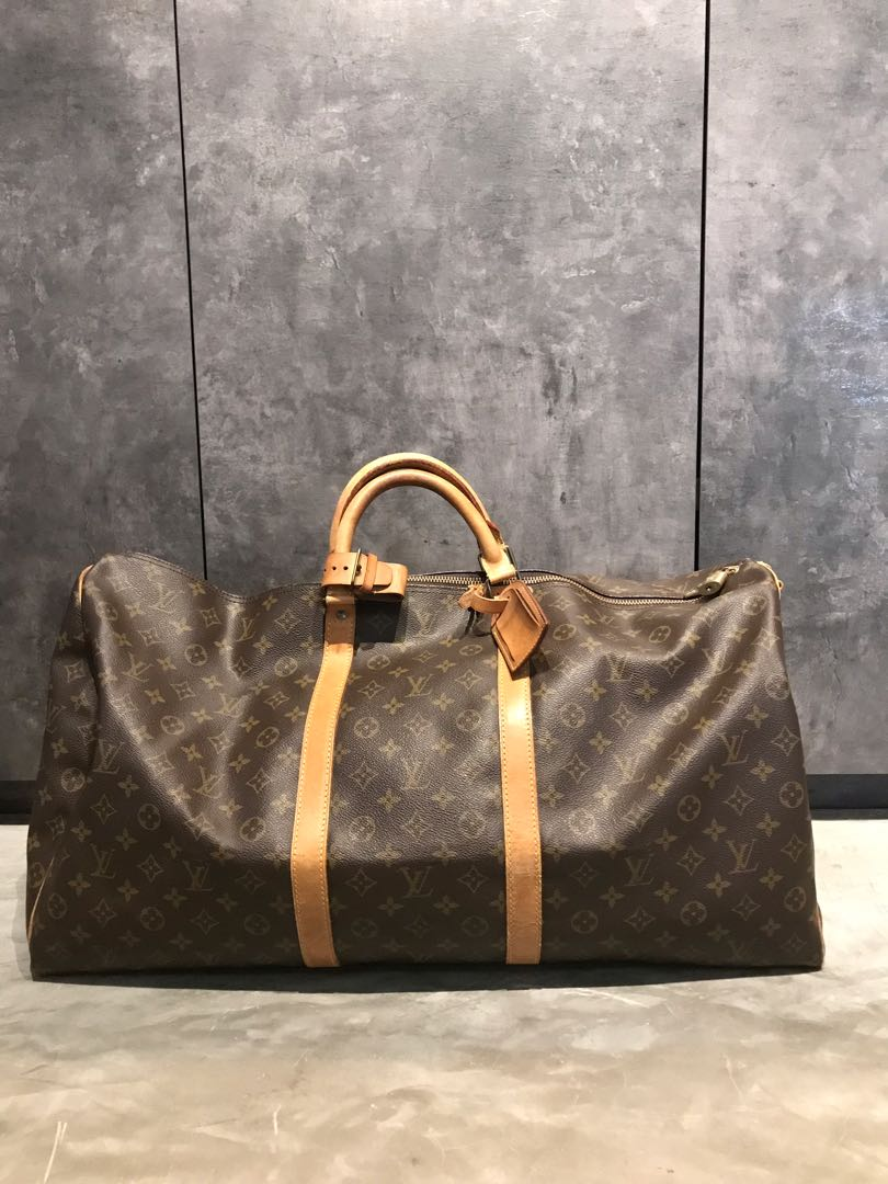 2c6fdfe1d Authentic Louis Vuitton Keepall 60 in classic LV monogram for sale or  trade, Luxury, Bags & Wallets, Others on Carousell