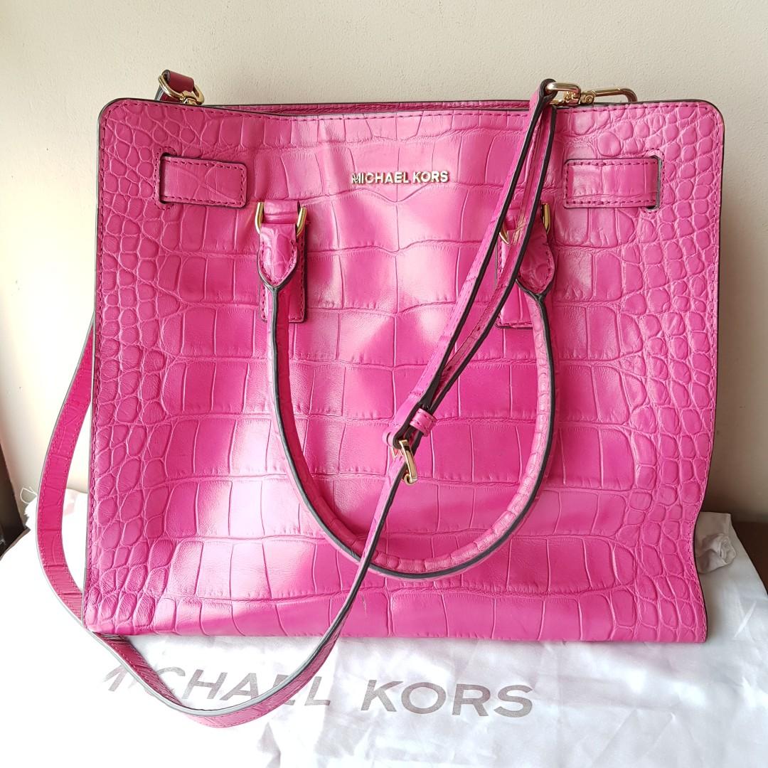 6920ffc0cc12 Authentic Michael Kors Pink Satchel, Luxury, Bags & Wallets ...