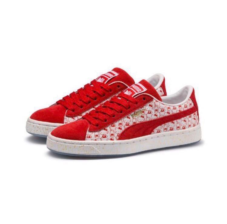 promo code a5349 022e0 BNIB AUTHENTIC PUMA X HELLO KITTY LIMITED EDITION SUEDE SNEAKERS