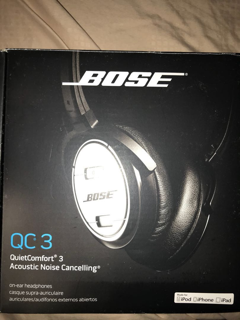 3633f6d376f Bose QC3 noise cancelling headphones, Electronics, Audio on Carousell