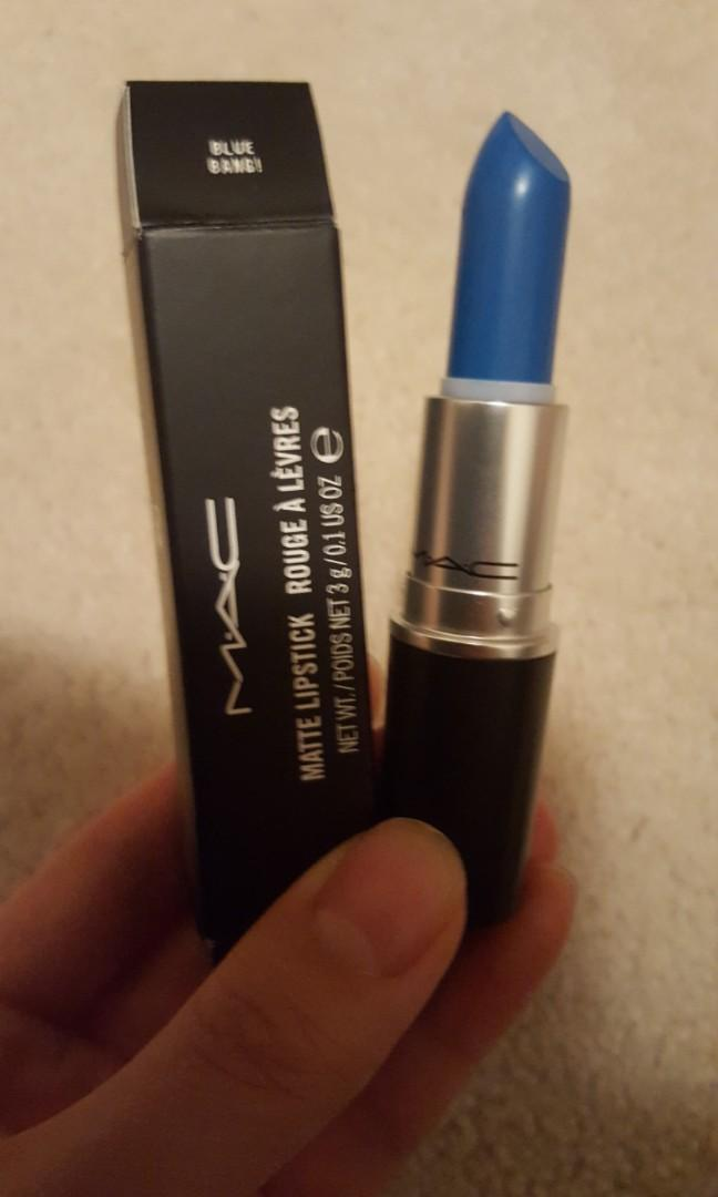 Brand New MAC Lipsticks in Jean Genie, Blue Bang, and Night Mint