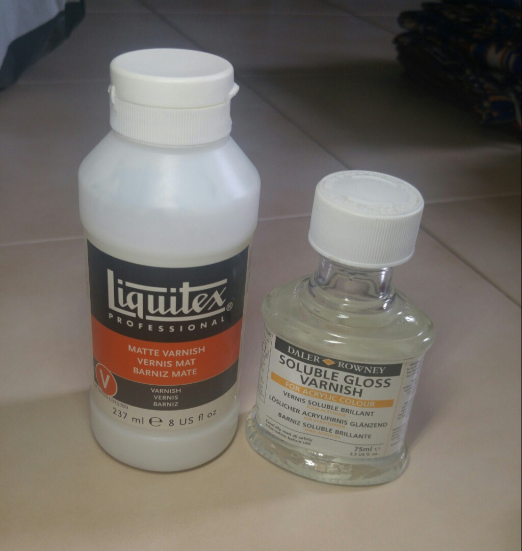 Canvas Acrylic Varnish Liquitex Matte Daler Rowney Gloss