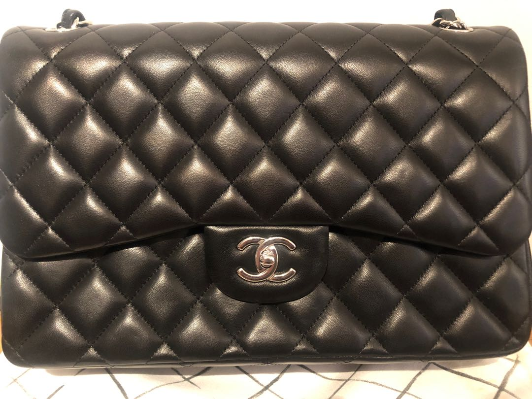 ac47806fd2 Classic Chanel double flap jumbo, Women's Fashion, Bags & Wallets ...