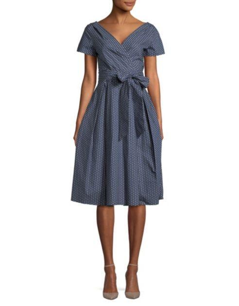 EUR 40/US 6 Navy Weekend Max Mara Amaca Printed Wrap Dress