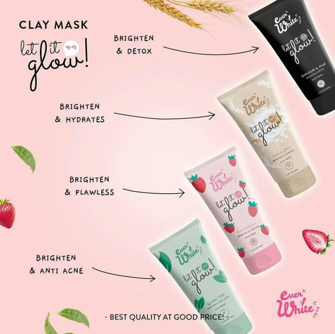 EVERWHITE LET IT GLOW CLAYMASK