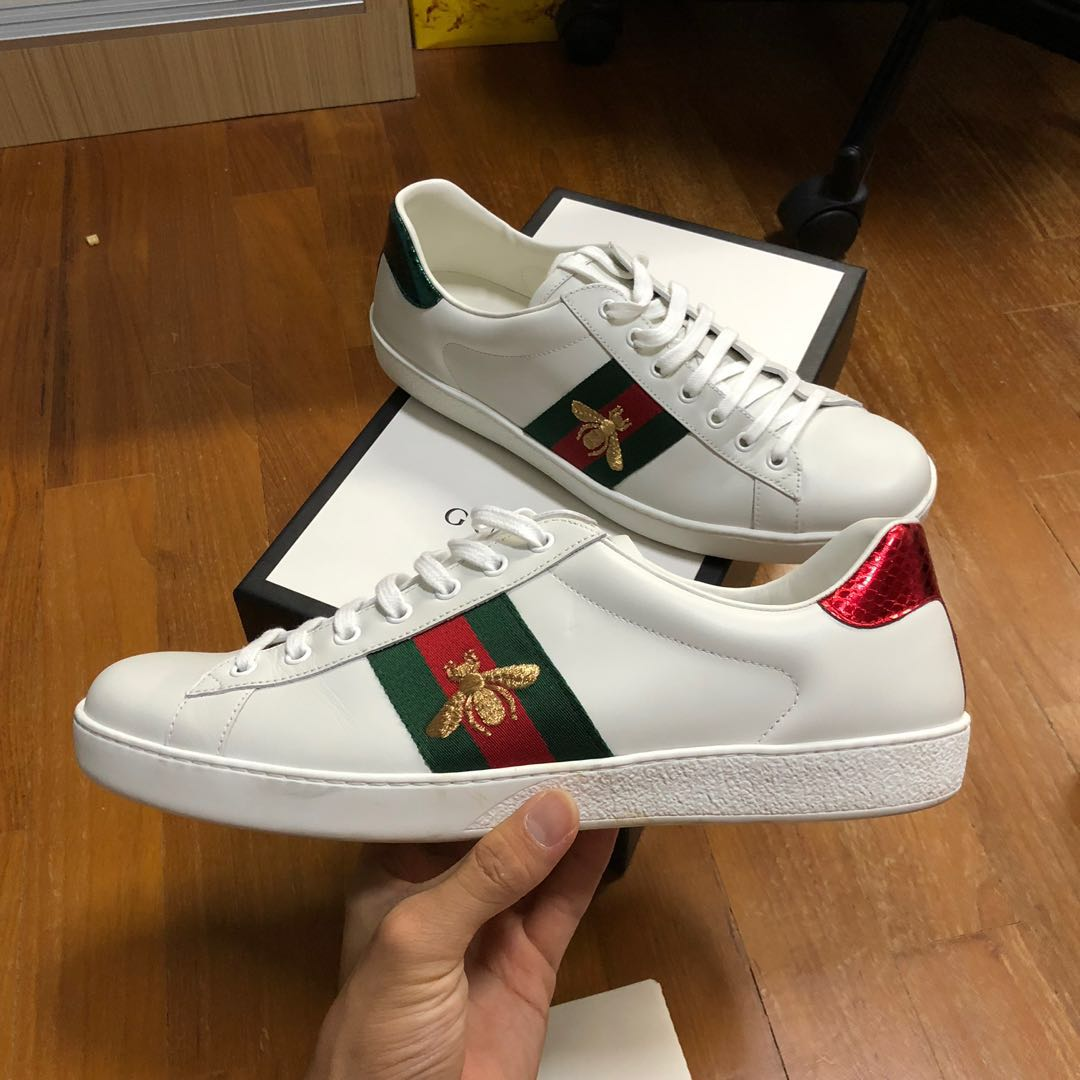 Gucci Ace Sneakers Shoe G11 Us11.5 Used