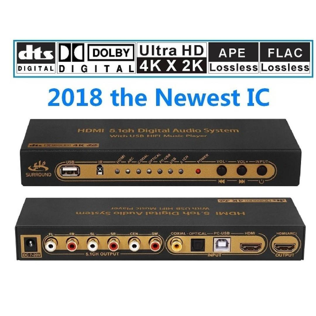 HDMI 5 1 Channel Audio DAC / Extractor, Electronics, Audio