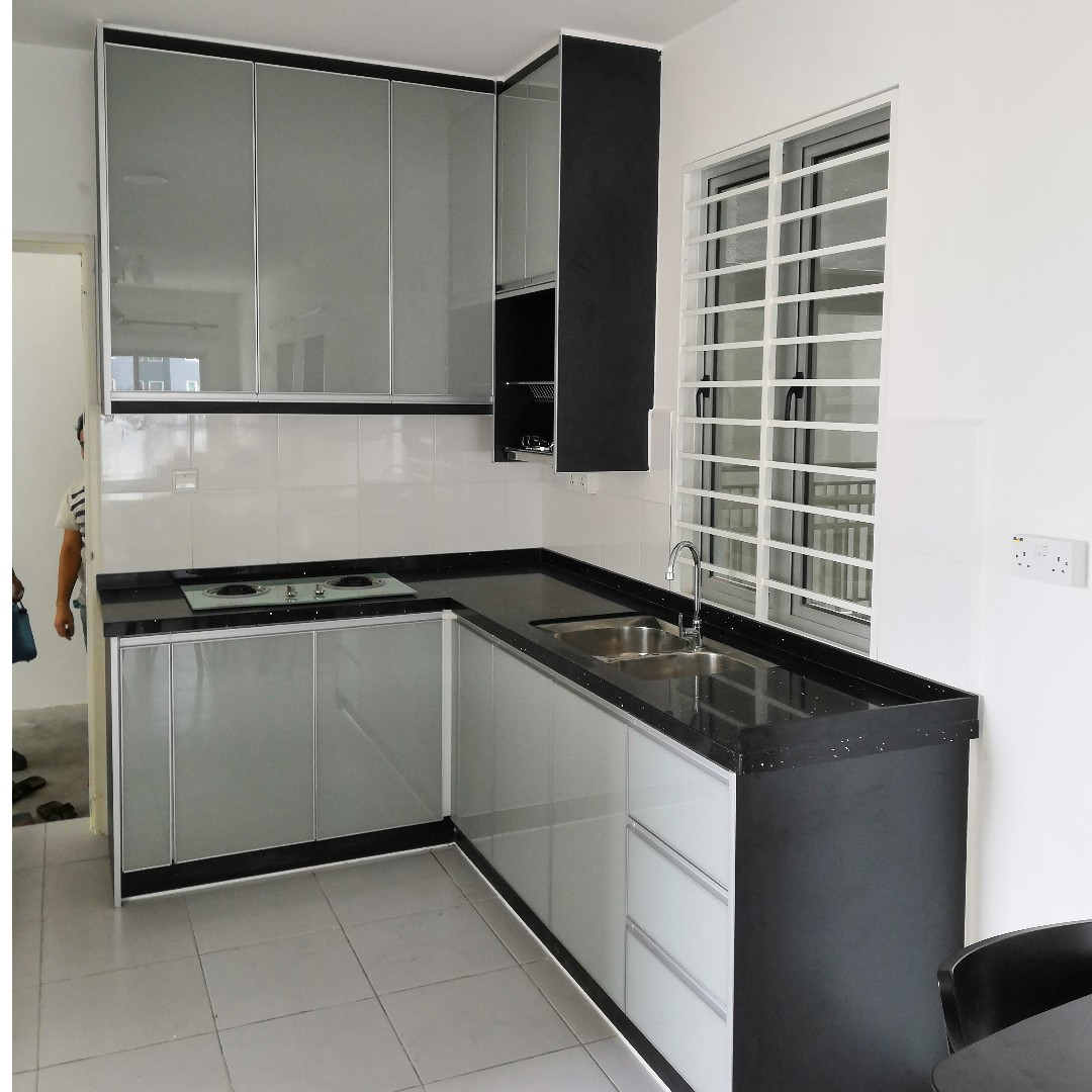 Kabinet Dapur Kitchen Cabinet 3g Grey Perft Run Home Furniture