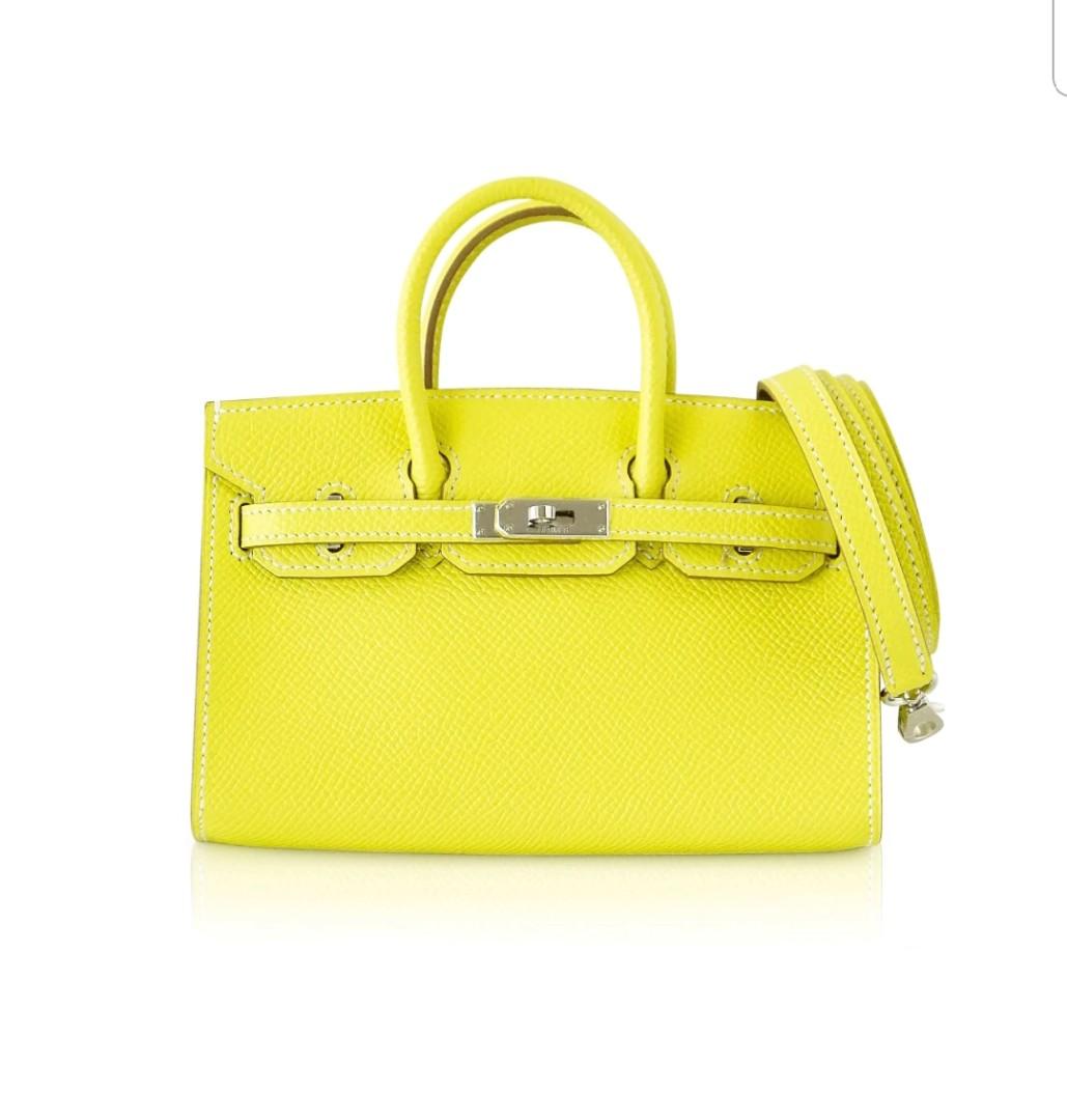 024576045bc Limited Edition Hermes Birkin Bag Tiny Miniature Micro Lime Epsom ...