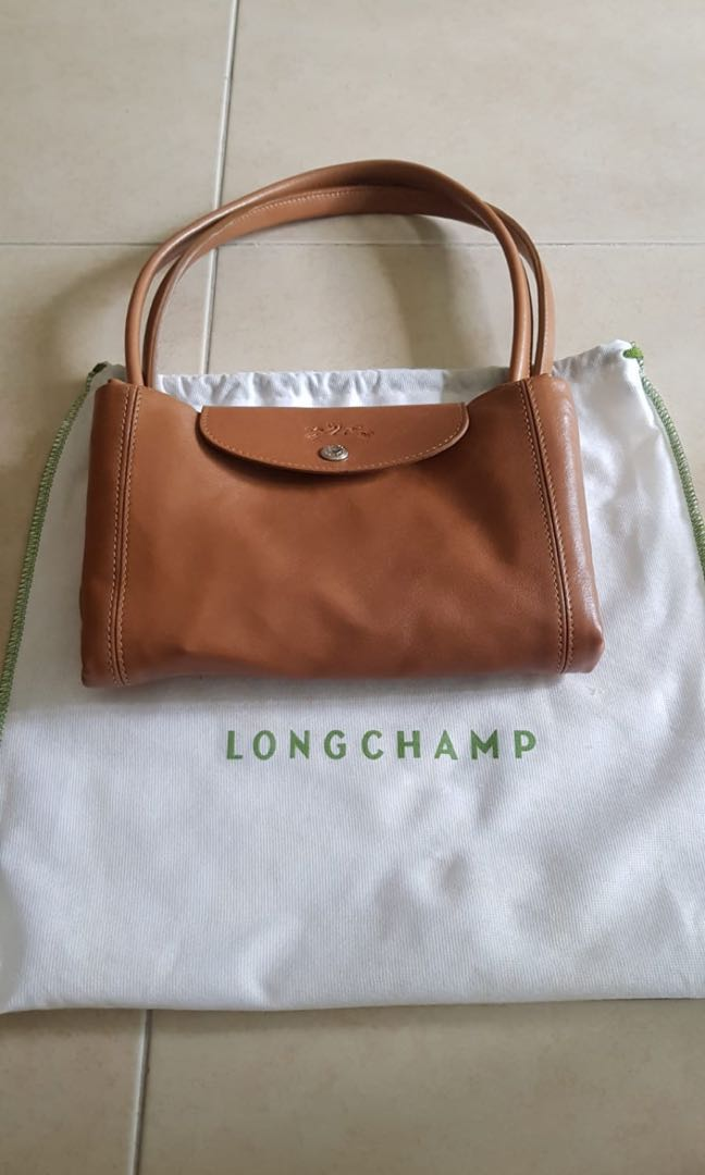 6d2054863fc9 Longchamp Le Pliage Cuir Large Leather Tote Bag