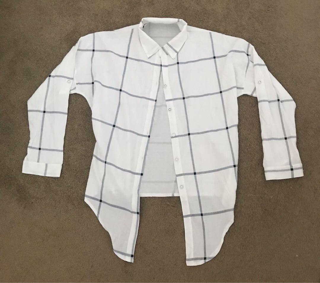 Loose button down shirt