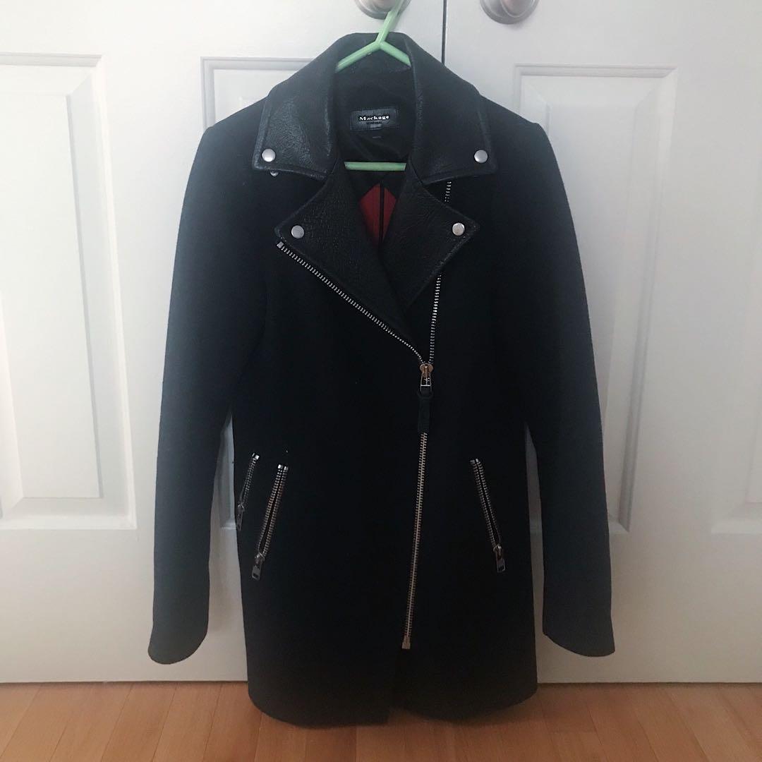 Mackage Navy Wool Coat
