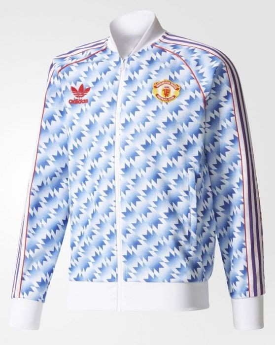 Manchester United FC Adidas Originals 90s Away Track Jacket be0302d48fa26