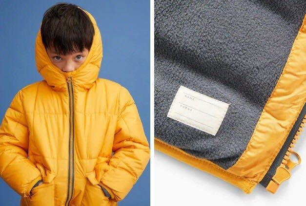 Manga Hood quilted coat winter
