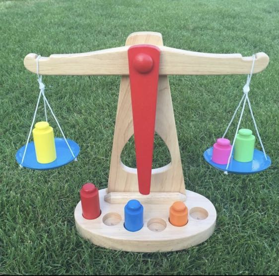 d0f37b704ae6 MONTESSORI BALANCE SCALE BALANCING WEIGHT WOODEN TOY CHRISTMAS BIRTHDAY  GIFT LEARNING RESOURCES AID EDUCATIONAL PRESCHOOL HOMESCHOOL TODDLER