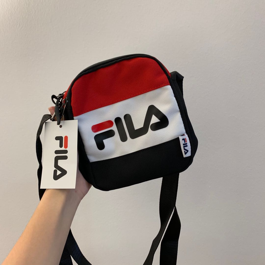b62b8f3360 NEW!! FILA shoulder Sling Bag small, Men's Fashion, Bags & Wallets ...
