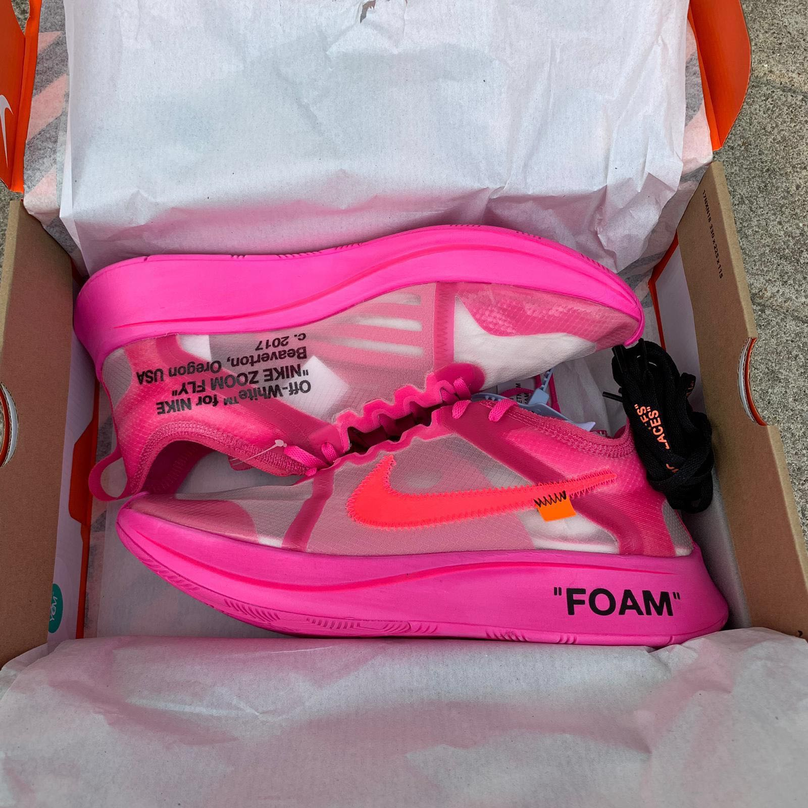 """bead4b7d556 Off White x Nike Zoom Fly """" Tulip Pink """""""