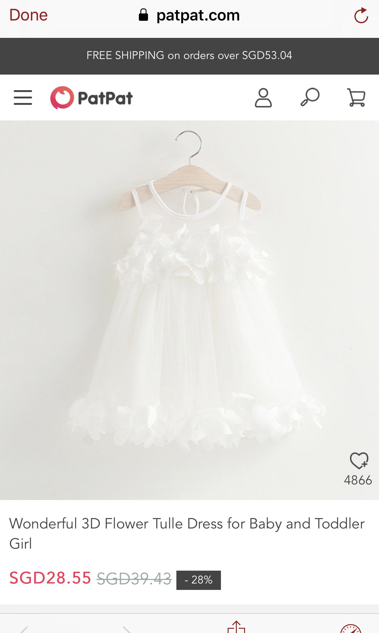 24a924af94e Patpat 💕Wonderful 3D Flower Tulle Dress for Baby and Toddler Girl ...