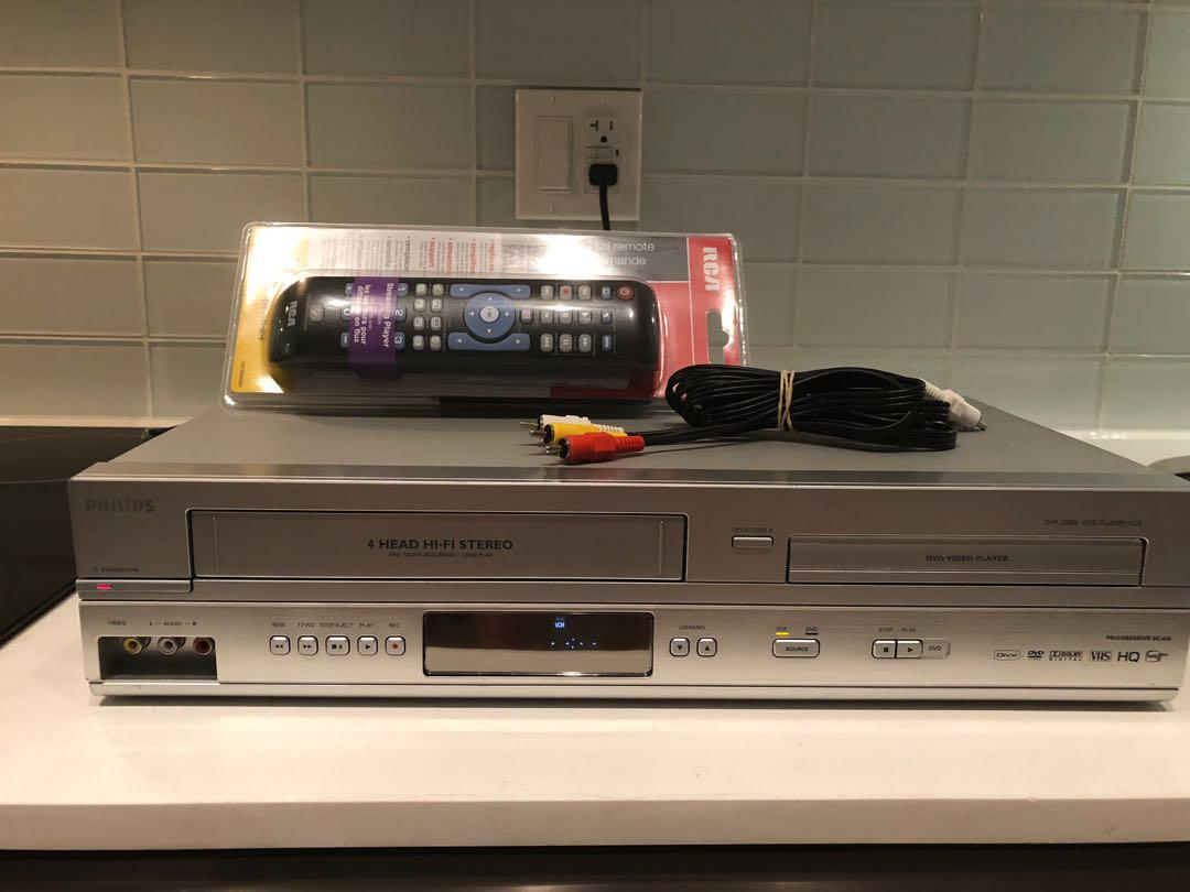 Philips DVD VCR combo Tested w/remote