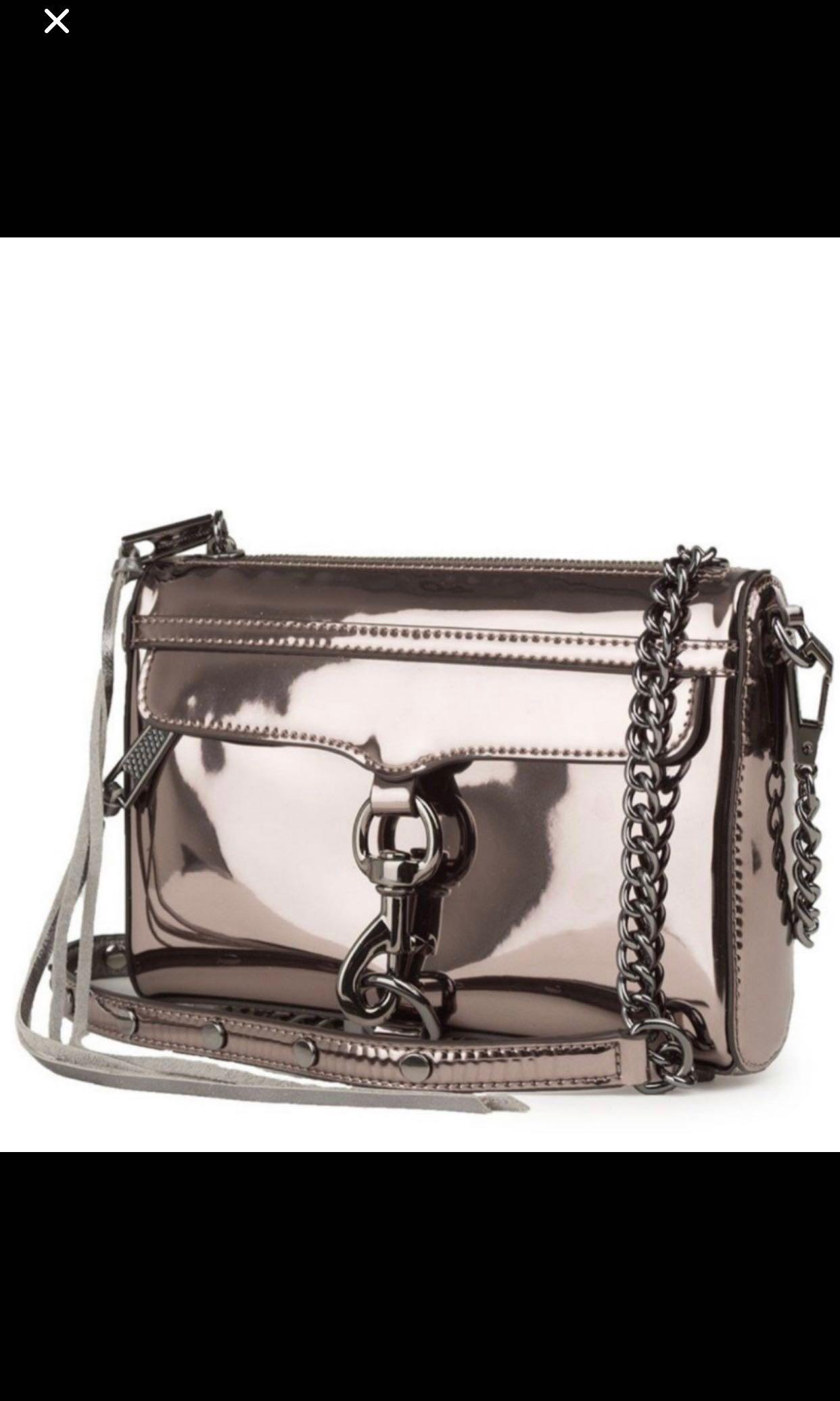 d5a916378 Rebecca minkoff metallic sling bag