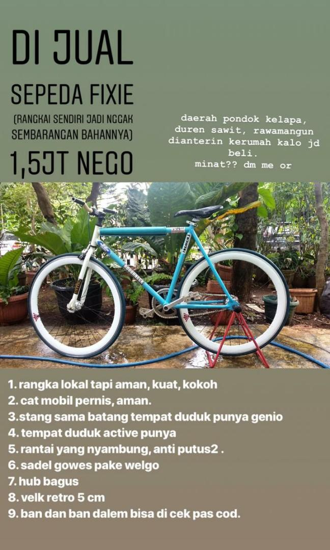 Sepeda fixie buildedby own