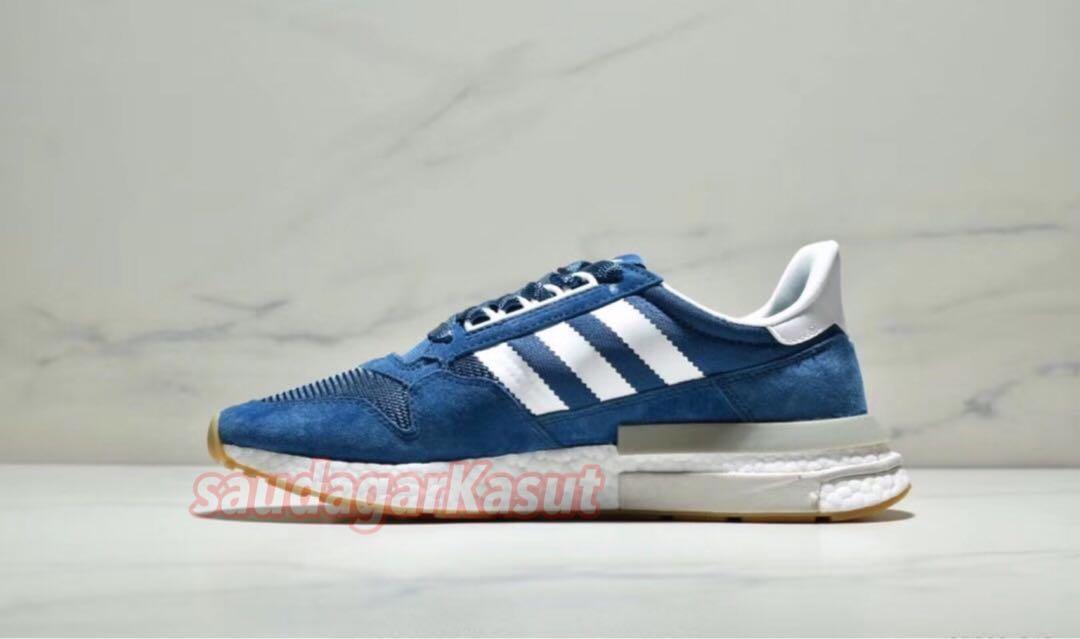 "newest 0ef2f 340fd Sneakersnstuff ❌ ZX 500 RM ""Blue Night"" (premium 11), Fesyen Lelaki, Kasut  Lelaki, Sneakers di Carousell"