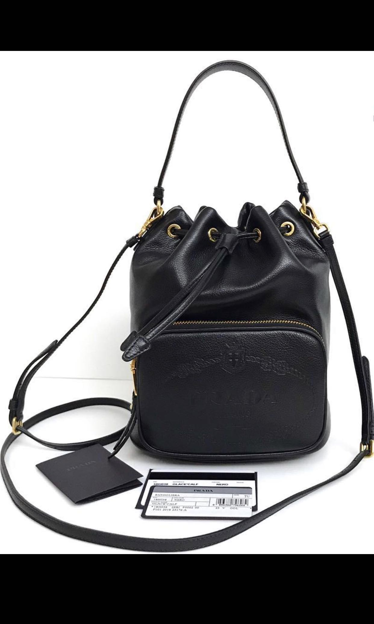 3dff57855efa SOLD OUT) Prada bucket bag (lunch bag/weekend bag) , Luxury, Bags ...