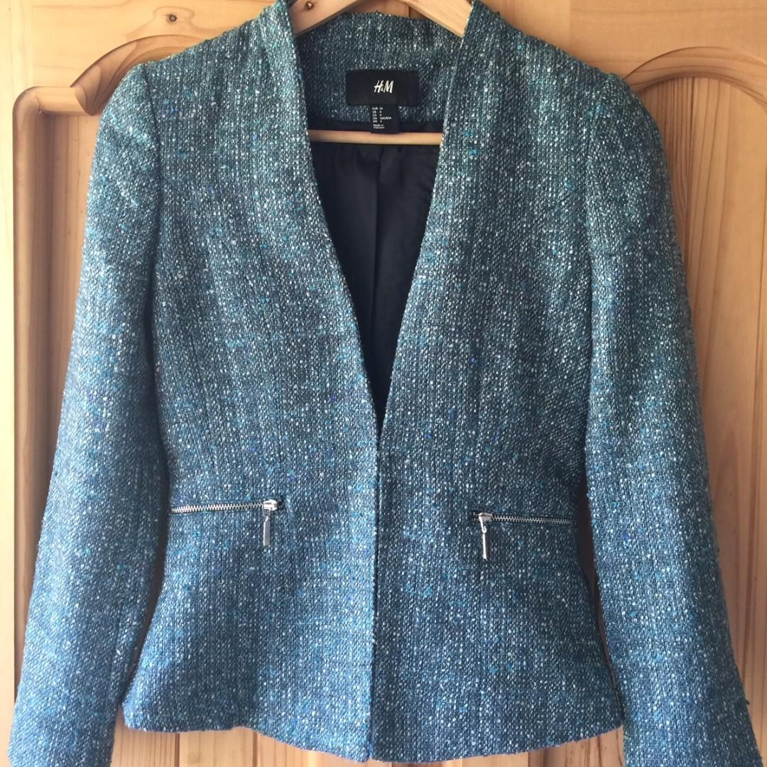 Stylish H&M fitted jacket - fully lined - Australia size 8