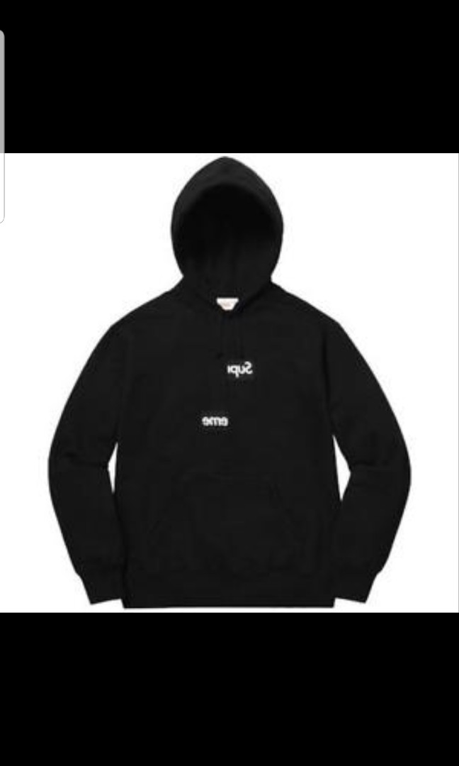 0da81957 Supreme X CDG Black Hoodie, Men's Fashion, Clothes, Tops on Carousell