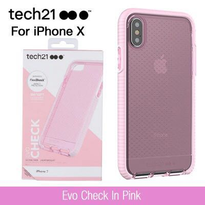 the best attitude 25fd3 0619d Tech21 iPhone X case - Evo Check In Pink