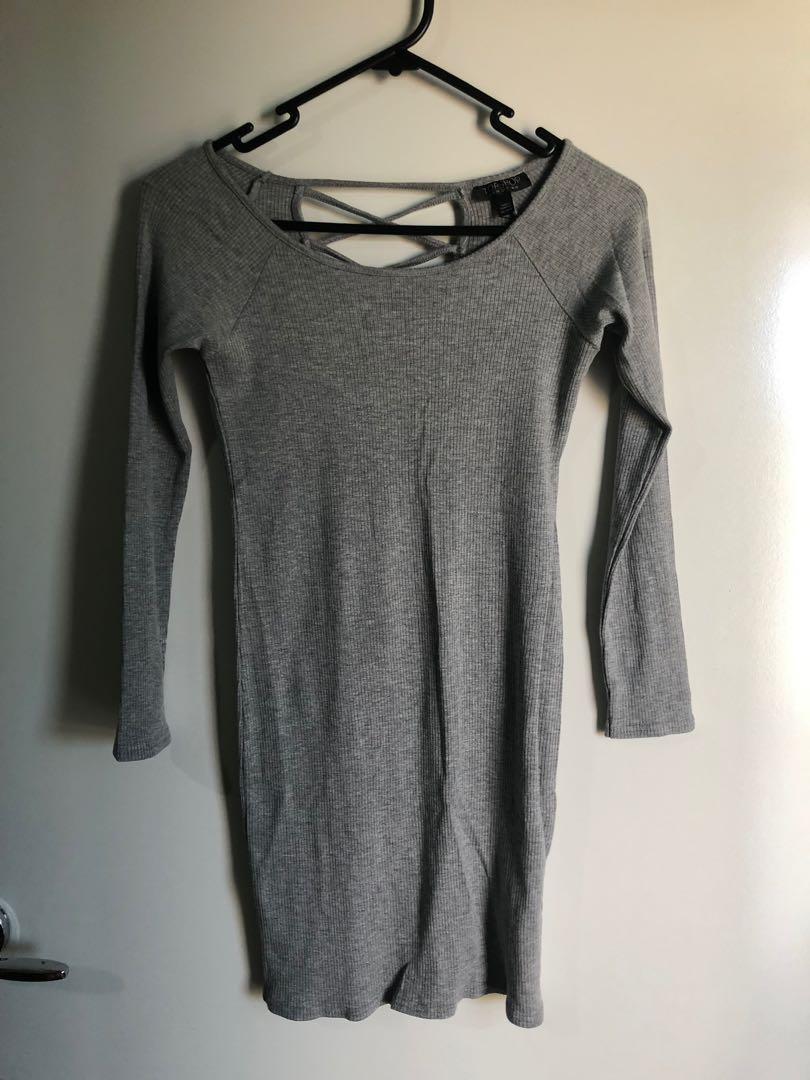 Topshop Gray Dress