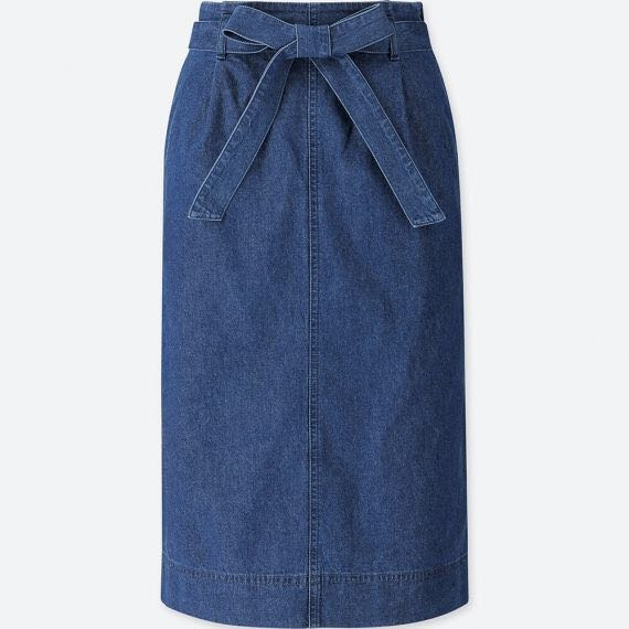091545f57e Uniqlo Denim Belted Skirt, Women's Fashion, Clothes, Dresses & Skirts on  Carousell