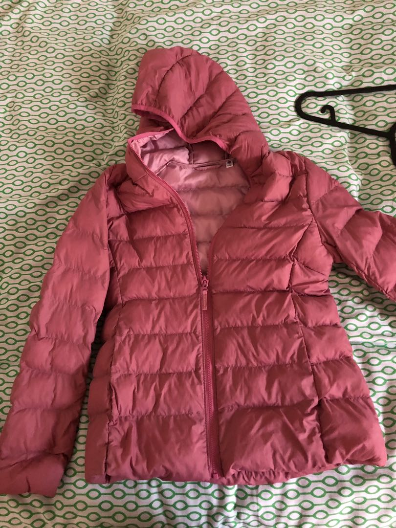 b484c8ac645 Uniqlo Down Jacket Kids Pink, Women's Fashion, Clothes, Outerwear on ...