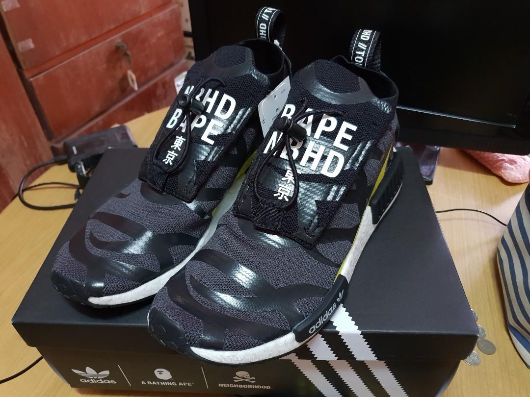 733cbd0ac2d US10 UK9.5  Bape x Neighborhood x Adidas Originals NHBAPE NMD STLT ...
