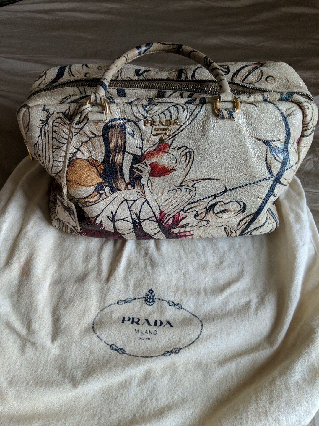 aa29a55f3e40 Vintage Prada fairy bag, Luxury, Bags & Wallets, Handbags on Carousell