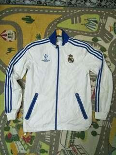 Adidas real madrid uefa football zipper jacket windbreaker training