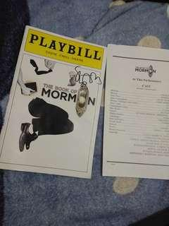 SIGNED The Book of Mormon playbill