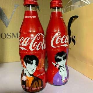 BTS coke glass bottle