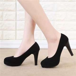 🚚 絲絨高跟鞋👠黑色氣質款