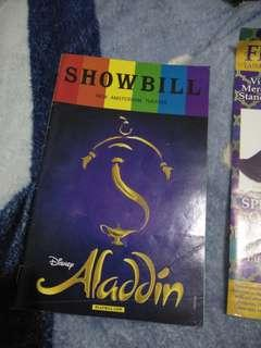 Pride edition Aladin playbill