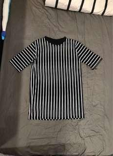 BN Netted Striped Oversized T-Shirt Top