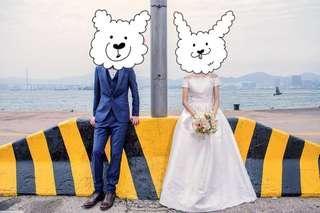 👰🏻Chi Chi London| Bridal Maxi Dress with Embroidery and Cap Sleeve 新娘露肩刺繡連衣長裙小禮裙婚紗長裙婚後物資prewedding
