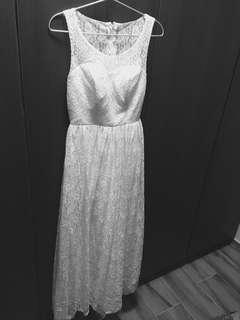 👰🏻白色背心Lace小禮裙prewedding長裙