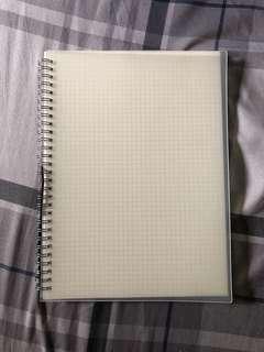 Grid Spiral Notebook B5