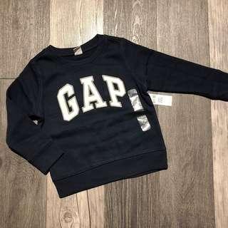 🚚 GAP logo徽標刷毛長袖上衣