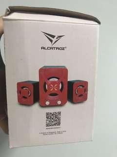 Alcatroz X-Audio 2.1 speakers (Red)