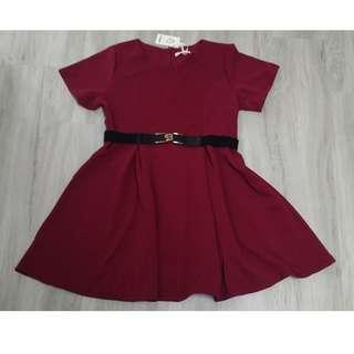🚚 [Instock] Plus Size Red Skater Dress (BNIP)